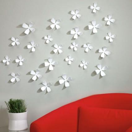 Umbra Wallflower Wall Decor - white wall flowers